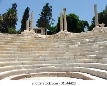 Roman Amphitheater in Alexandria, Egypt