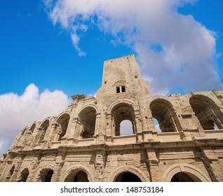 Roman amphitheater (Arena) in Arles, Provence, France. UNESCO site