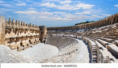 Roman amphitheater of Aspendos, Belkiz, Antalya, Turkey