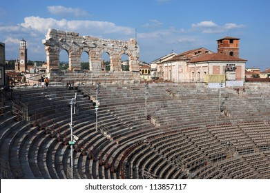 Roman Amphitheater of Verona on Italy, UNESCO World Heritage