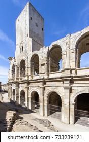 Roman amphitheatre (roman arena) in Arles, France