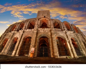 Roman Amphitheatre and arena, Arles, Provence, France