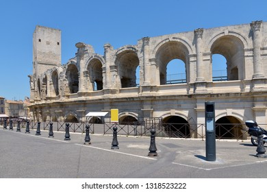 Roman amphitheatre of Arles,a city and commune in the south of France, in the Bouches-du-Rhône department, of which it is a subprefecture, in the former province of Provence