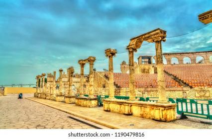 Roman Amphitheatre or Colosseum at Macau Fisherman's Wharf in China