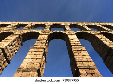 Roman aqueduct in medieval city