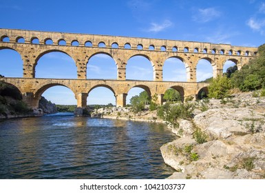 Roman aqueduct, Pont du Gard, France