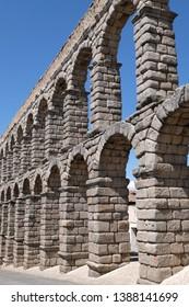 The Roman aqueduct of Segovia in Spain