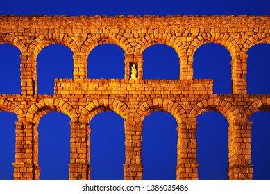 Roman aqueduct of Segovia, Spain, declared World Heritage Sites by UNESCO, Europe