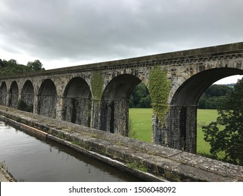 Roman Aqueduct in Wales Countryside