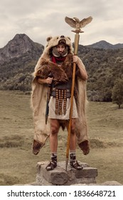 Roman Aquilifer soldier. He is the bearer of the Roman standard, the eagle.