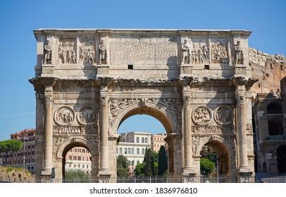 Roman Arch at the Roman Colosseum