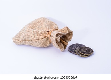 A Roman bag with old coins