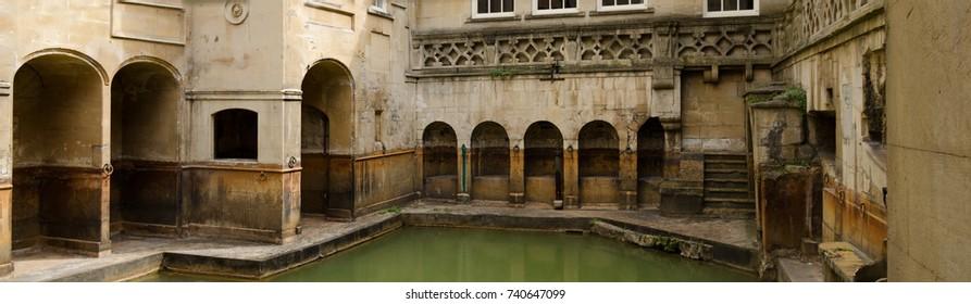 Roman Baths ancient spa, Bath, England