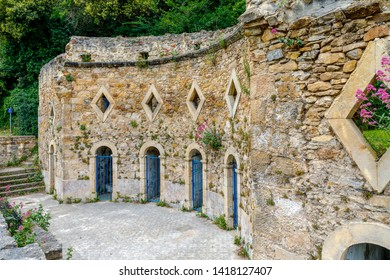 Roman baths of Rennes les Bains, France, located in the department of the Aude and the Languedoc-Roussillon region.