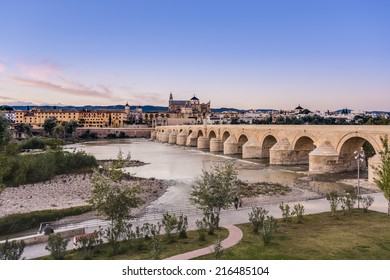 Roman bridge, built in the early 1st century BC across the Guadalquivir river in the Historic centre of Cordoba, Andalusia, southern Spain.