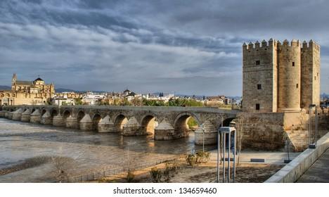 Roman bridge of Cordoba in Spain