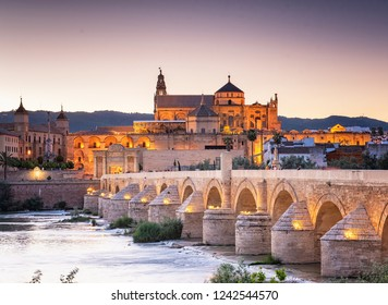 Roman Bridge and Guadalquivir river, Great Mosque, Cordoba, Spain