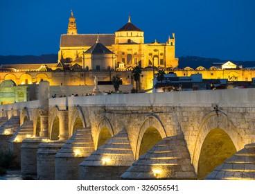Roman Bridge and Mezquita, Cordoba, Spain