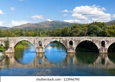 Roman bridge of Ponte do Porto, Braga, in the north of Portugal