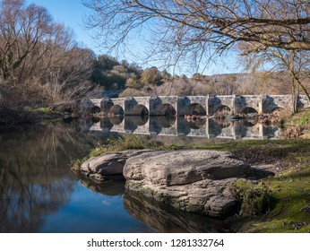 Roman bridge at Trespuentes, Alava, Basque Country, Spain