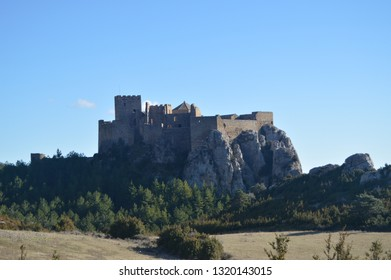 Roman Castle Of Loarre Dating From The 11th Century It Was Built By King Sancho III In Loarre Village. Landscapes, Nature, History. December 28, 2014. Riglos, Huesca, Spain.