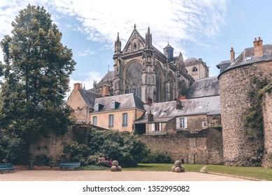 Roman cathedral of Saint Julien, Le Mans, Sarthe, Pays de la Loire, France