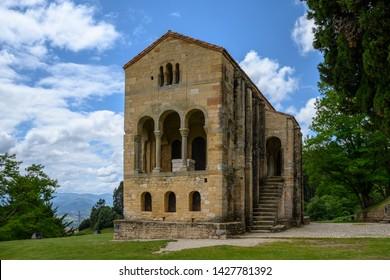 Roman Catholic Asturian pre-Romanesque Asturian architecture church on the slope of Mount Naranco situated 3 kilometers from Oviedo, Asturias, Spain
