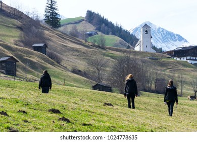 Roman Catholic Church St. Nikolaus in mountains country, Matrei in Osttirol, Austria