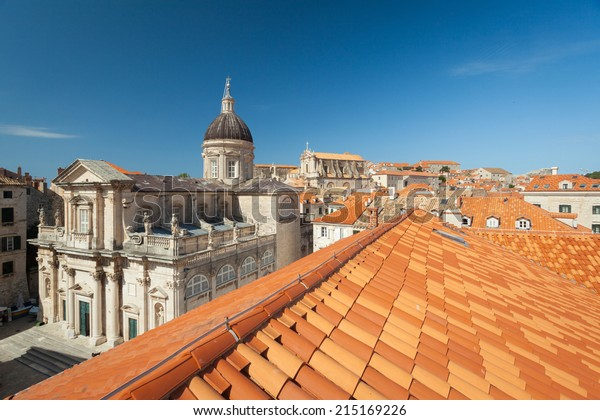 Roman Catholic Diocese of Dubrovnik seen from the roof of the rector's palace