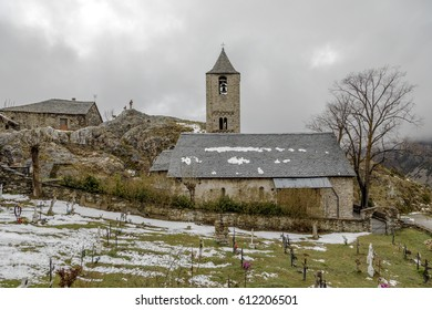Roman Church of Sant Joan de Boi, in the Boi Valley, (Catalonia - Spain). This is one of the nine churches which belongs to the UNESCO World Heritage Site.