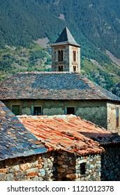 Roman Church of Santa Eulalia in Erill-la-Vall in Catalonia, Spain. ( Boi Valley, a UNESCO World Heritage Site)