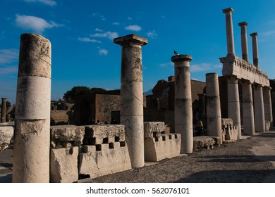 roman cities pompeii archaeological site found intact by the eruption of vsuvius excavations napoli campania italy - Shutterstock ID 562076101