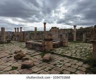 Roman city of Gerasa near Jerash (Pompeii of the East. The city of 1000 columns). Northern Jordan