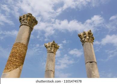 Roman city of Volubilis at Morocco