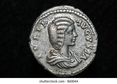 Roman coin,denar of Iulia Domma 193-217 AD