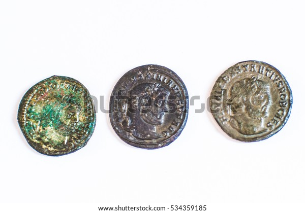Roman Coins Old Coins Rare Historical Stock Photo (Edit Now) 534359185