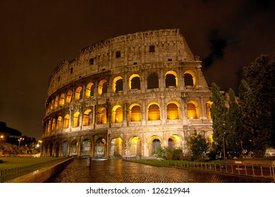 Roman Colosseum by night