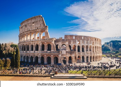 The Roman Colosseum in Rome, Italy HDR image