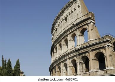 the roman colosseum, symbol of the roman ancient empire
