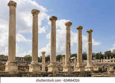 Roman Column in Bet She'an, Israel