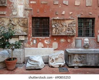 Roman Courtyard/Rome/Italy
