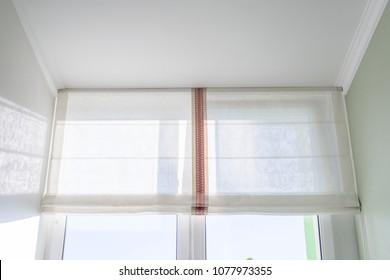 Roman curtains in the interior