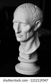 Roman emperor Julius Caesar bust