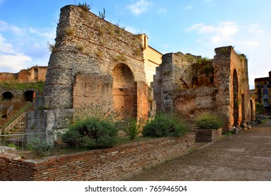 roman empire ruins in benevento city