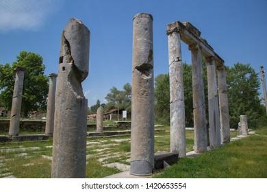 Roman Era Columns at Aizonai, Anatolia, Turkey.