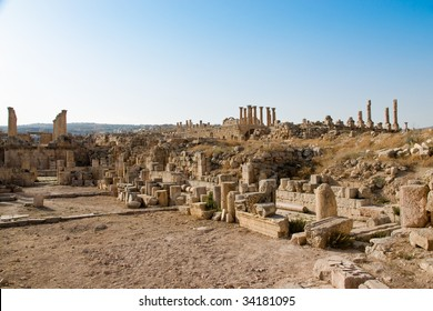 Roman excavations in Jerash