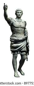 roman fighter person statue