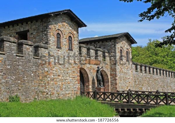 roman fort in Saalburg, Germany