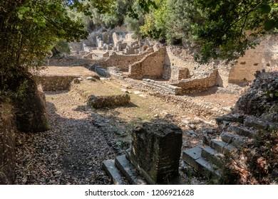 Roman forum in Butrint ancient city, Albania