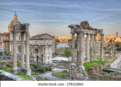 Roman Forum Sunset HDR